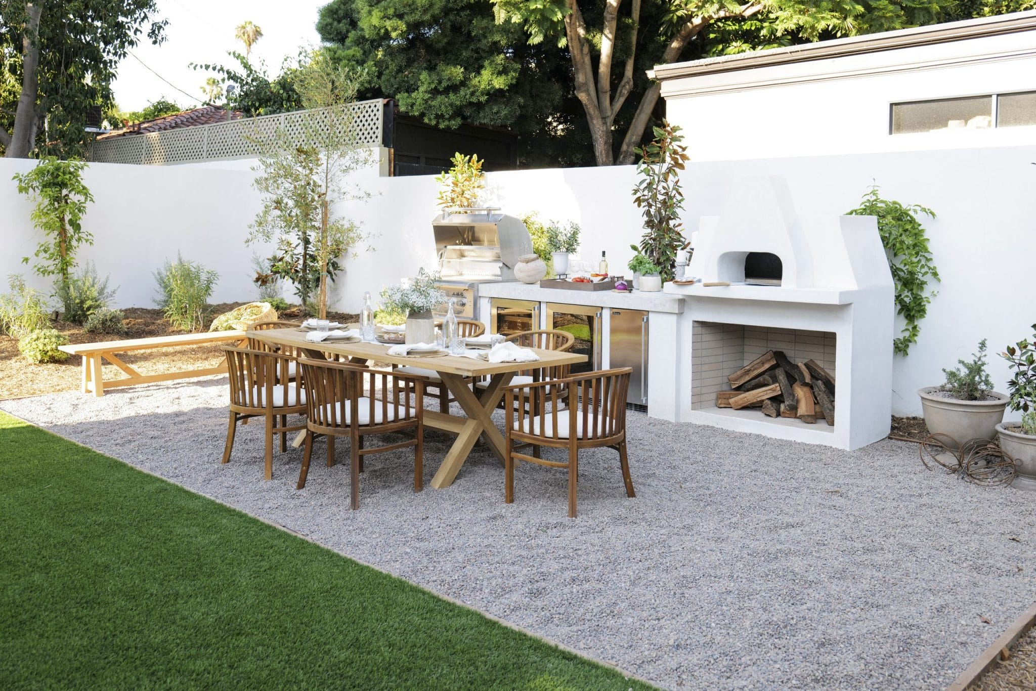 The backyard of the team Drew house after renovations, as seen on Brother vs Brother.